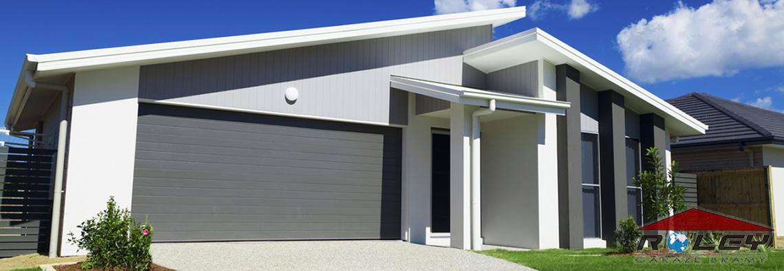 Nowoczesna architektura Roley - Bramy garażowe, garaże blaszane, ocynkowane, tynkowane LU46